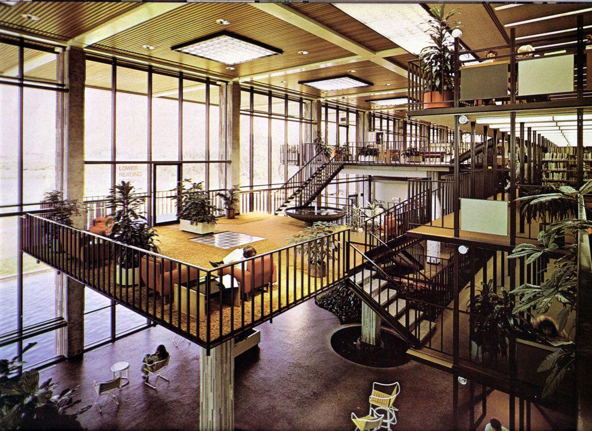 Richard dion neutra huntington beach public library - Interior design schools orange county ...
