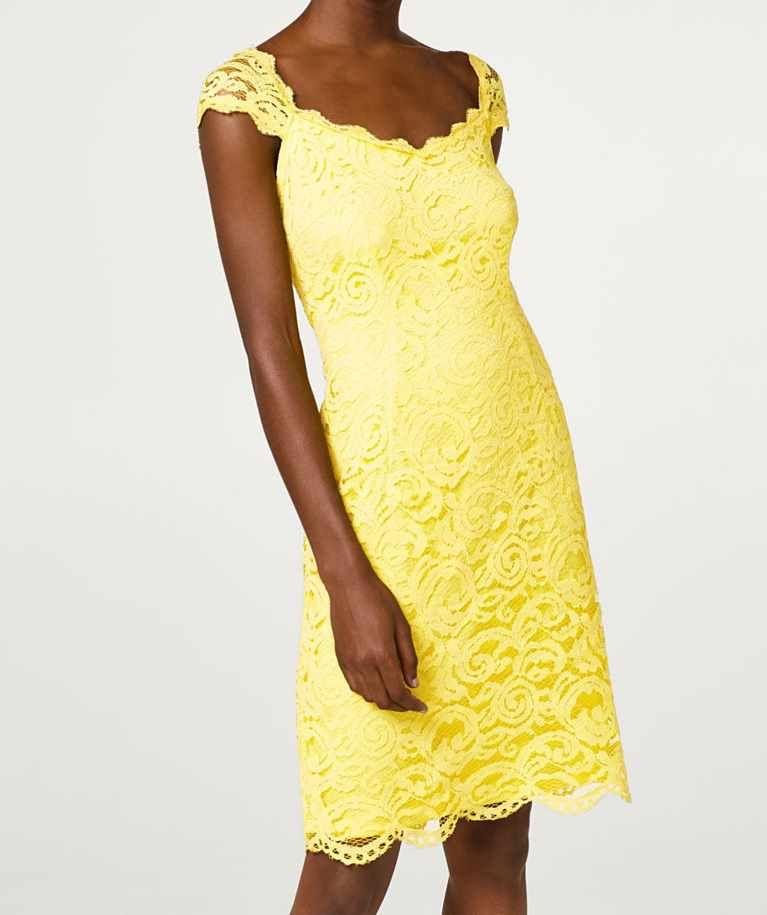 wholesale dealer a1c60 097e3 tubino di pizzo giallo per matrimonio estivo | Spring&Summer ...