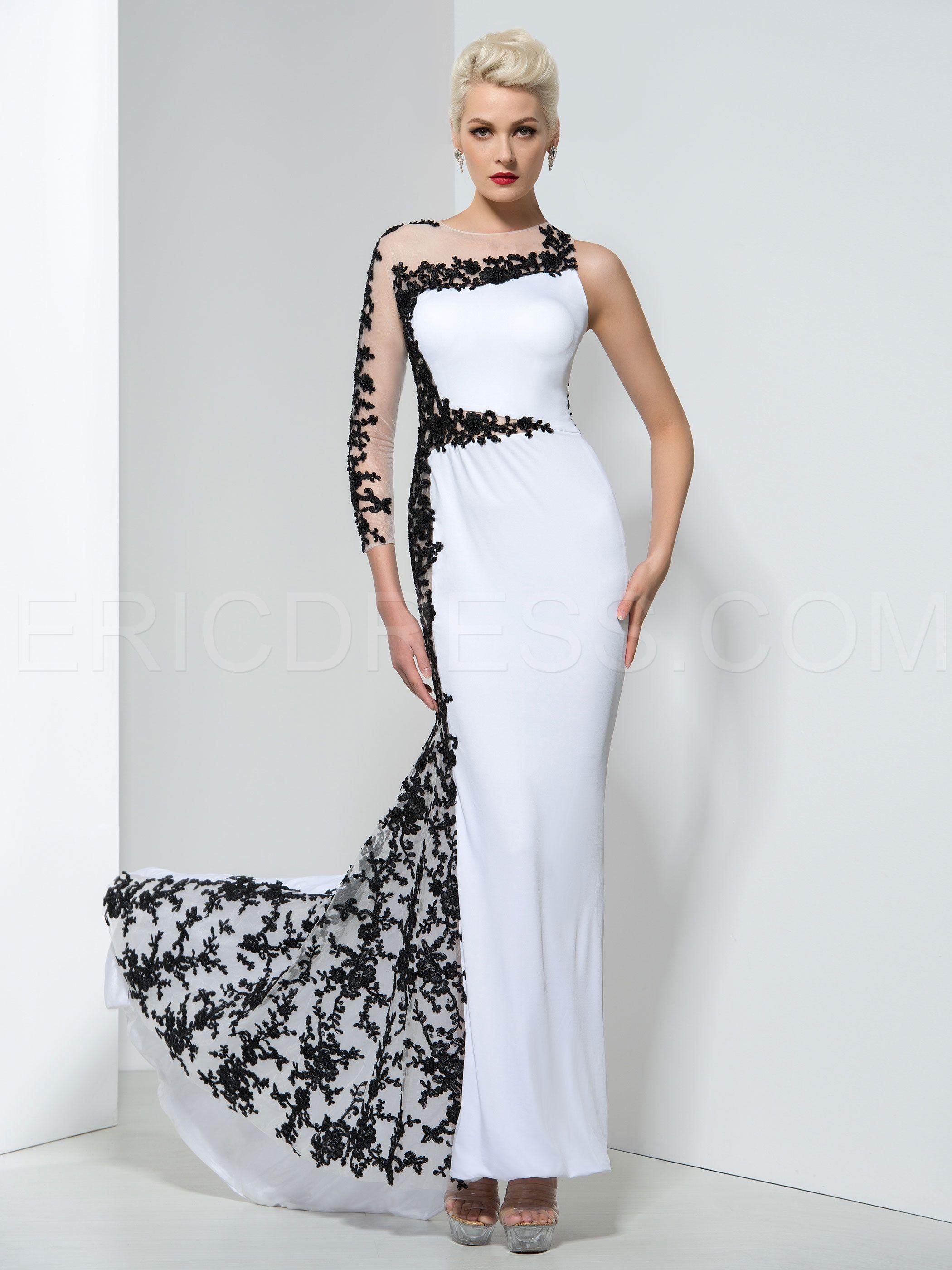 Elegant Appliques Court Train Evening Dress | Evening dresses ...