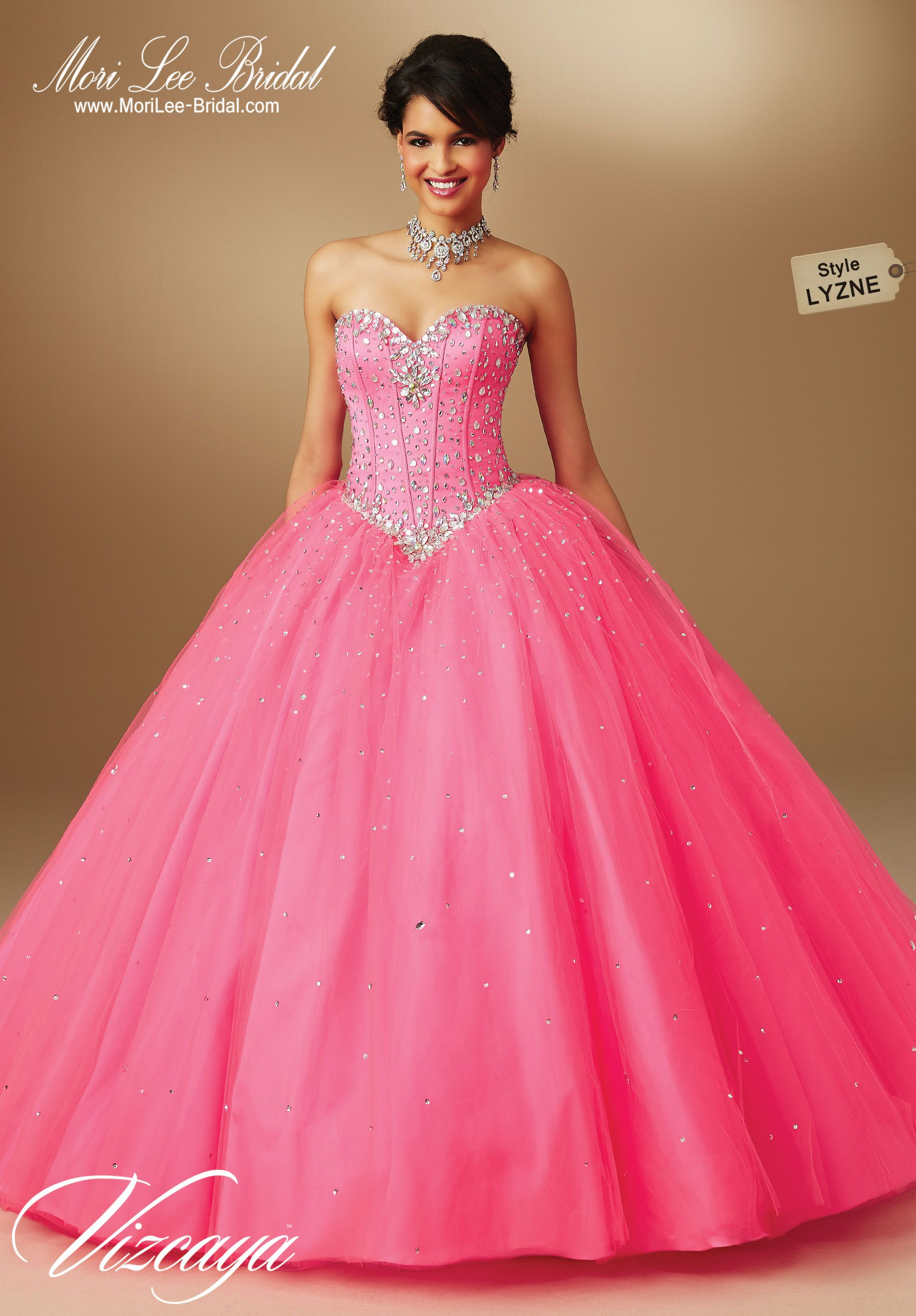 Style LYZNE TULLE QUINCEANERA GOWN WITH BEADING.Bolero Jacket ...