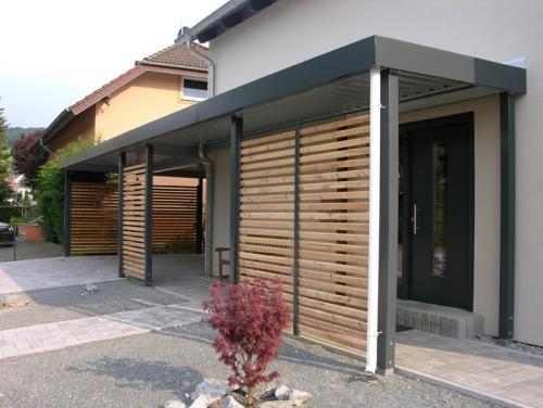 carport carport stahl mit hausingangsueberdachung haus pinterest eingang vordach und. Black Bedroom Furniture Sets. Home Design Ideas