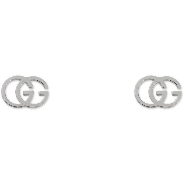 ec785308a Gucci Gg Tissue Stud Earrings ($460) ❤ liked on Polyvore featuring jewelry,  earrings, fine jewellery, for women, jewellery & watches, white gold, ...