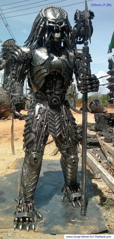 Metal Artwork For Sale Predator Figure Scrap Metal Art Full Life Size For Sale  Arte Em