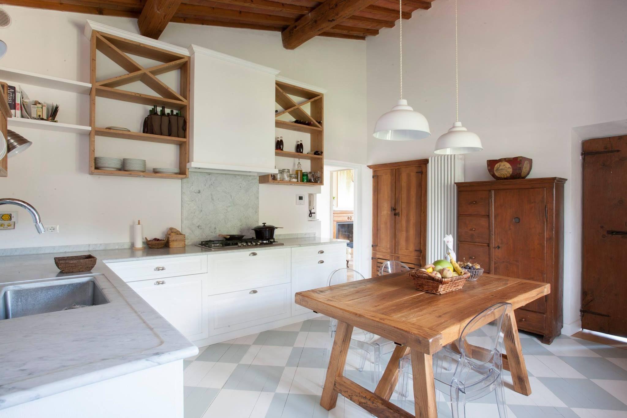 Emejing Cucine Bianche E Legno Contemporary - Design & Ideas 2017 ...