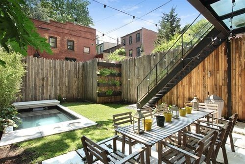 Impeccable Brooklyn Home With Pool Returns For 25k Month Pool Houses Brooklyn Backyard Outdoor Stairs