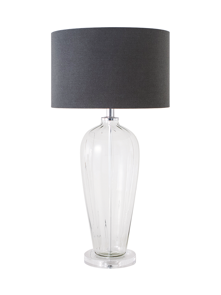 Crafted From Fluted Glass And Mounted On A Sturdy Clear Base Our