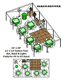 20x40 Tent Layout Tent Reception