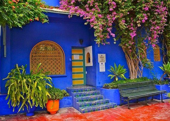 set de table maroc marrakech jardin majorelle 1 inspiration terrasse pinterest maroc. Black Bedroom Furniture Sets. Home Design Ideas