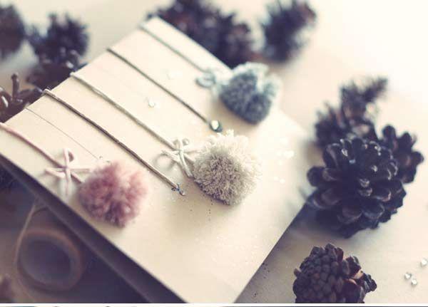 postales de navidad con pompones Easy home-made Manualidades