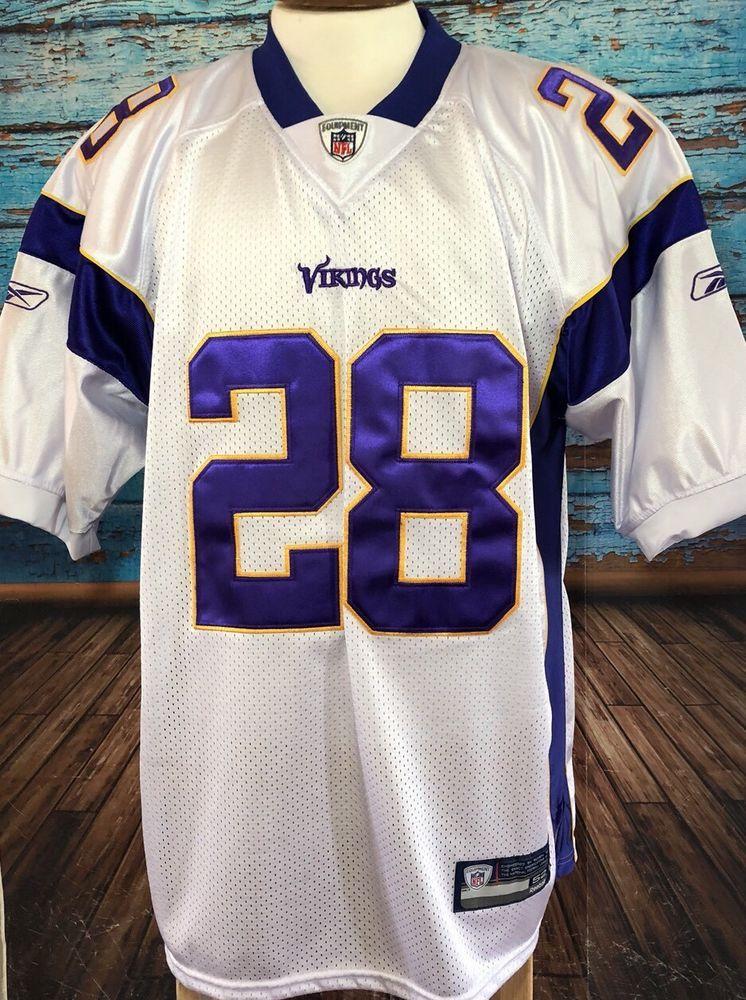 Reebok NFL Adrian Peterson Minnesota Vikings Men s Sz 52 Jersey Sewn  28  208c3286d
