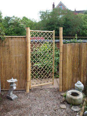 diy bamboo fence Google Search Bamboo fence, Backyard