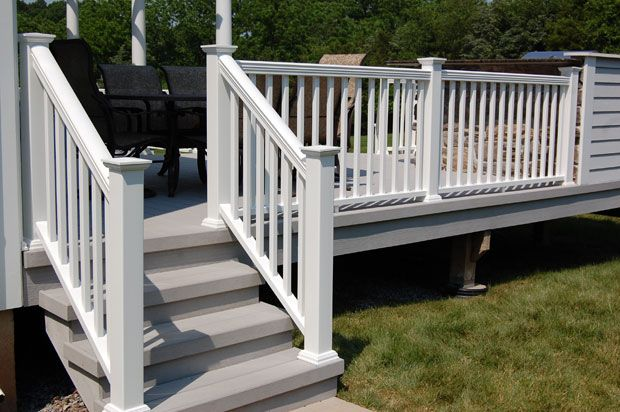Pin By Gloria Phillips On Landscape Outdoor Stair Railing | Wood Railing On Concrete Steps | Stair Railing | Diy | Wooden | Railing Mode | Staircase