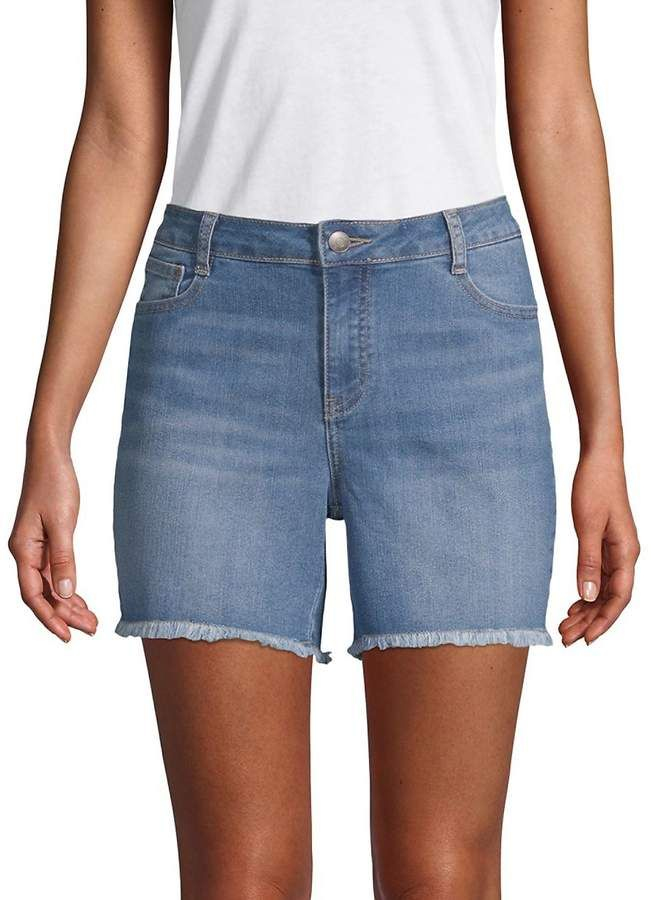 9d76cd72a9c Alexander Jordan Women's Frayed Denim Shorts | Products | Denim ...