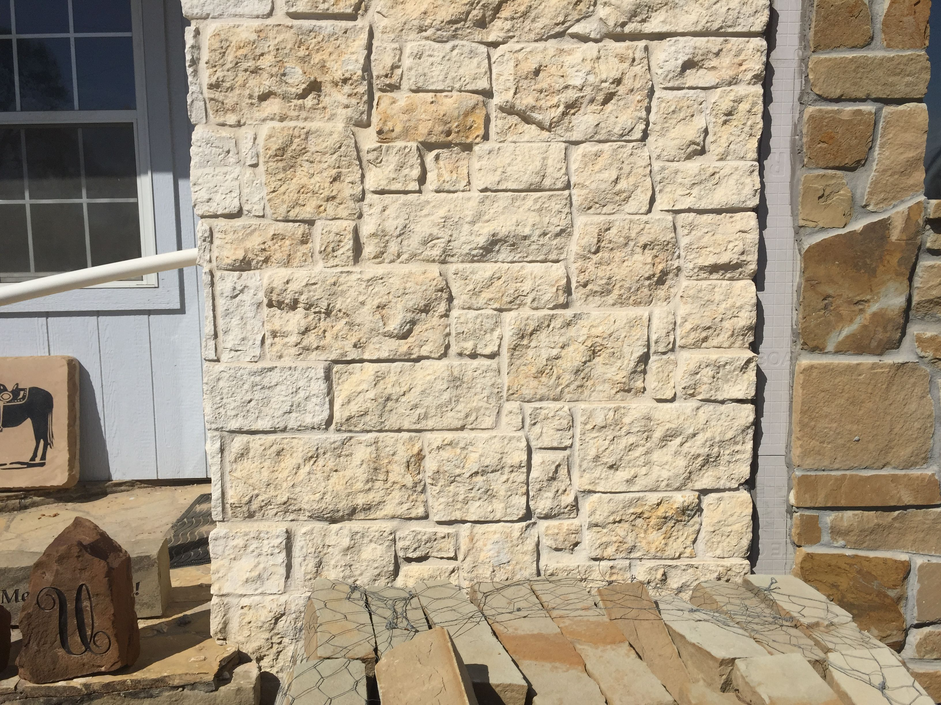 texas cream limestone veneer | outdoor kitchen | pinterest