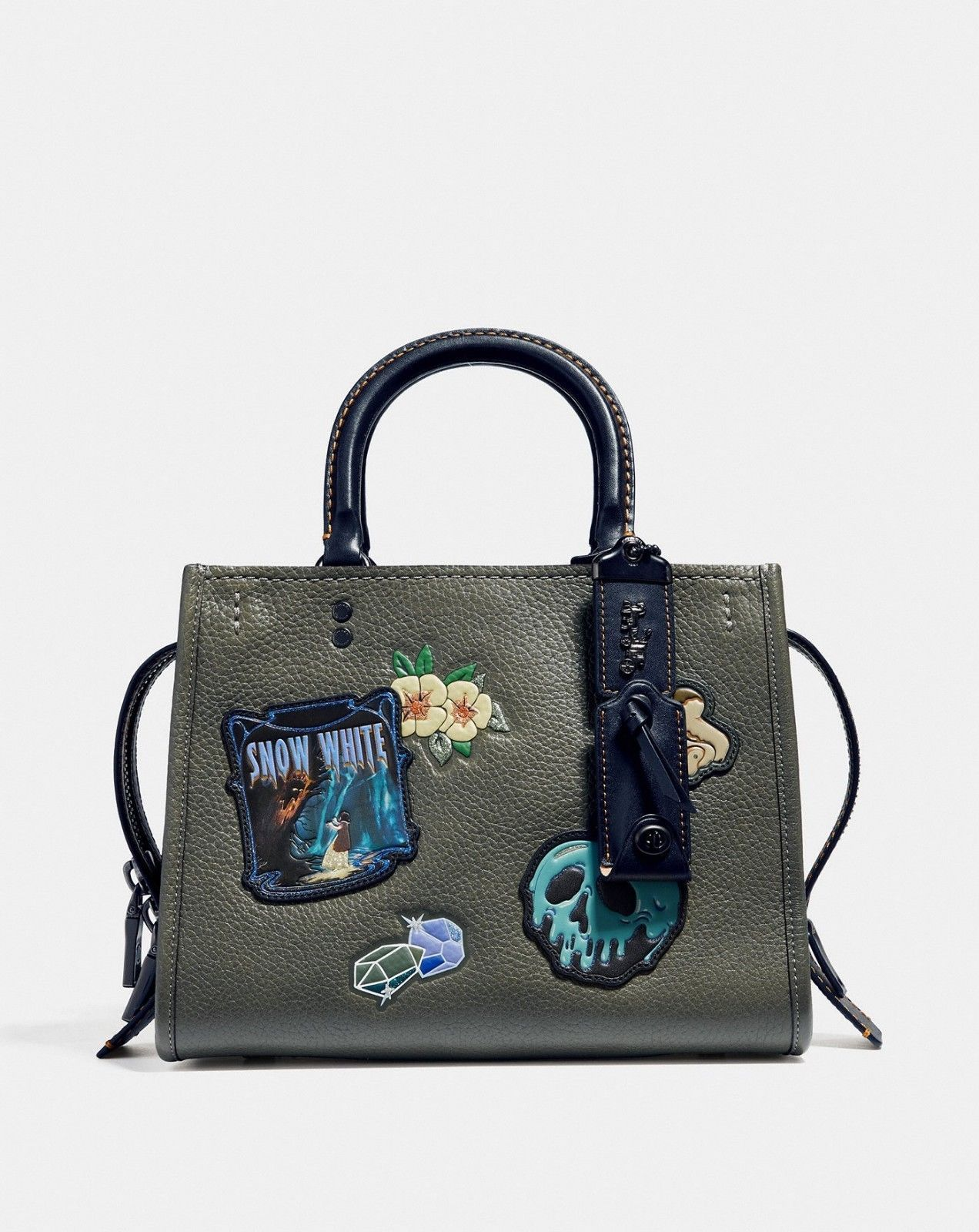 b64c98b1fd1 Disney X Coach Rogue 25 With Patches STYLE   32780 ARMY GREEN UPC   191202982987