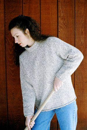 Knitting Pure And Simple Womens Sweater Patterns 9724 Neckdown