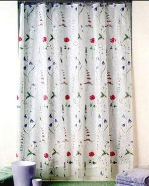 Poppies Eva Shower Curtain Plastic Shower Curtain Vinyl Shower