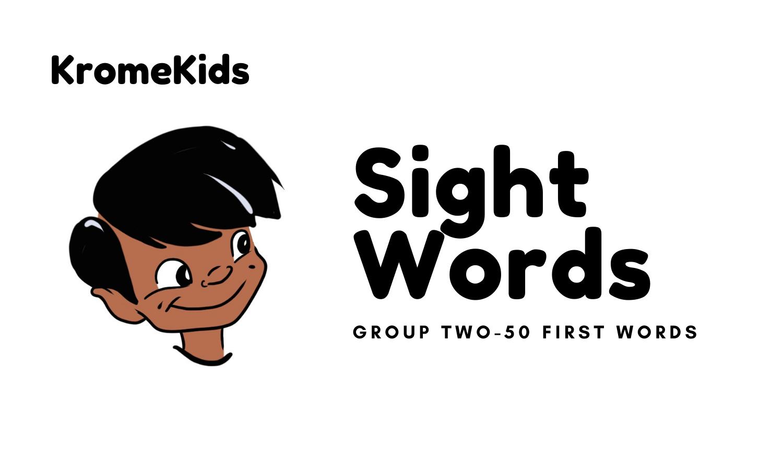 Sichtwort-Lernkarten – Gruppe 2-50 Erste Wörter