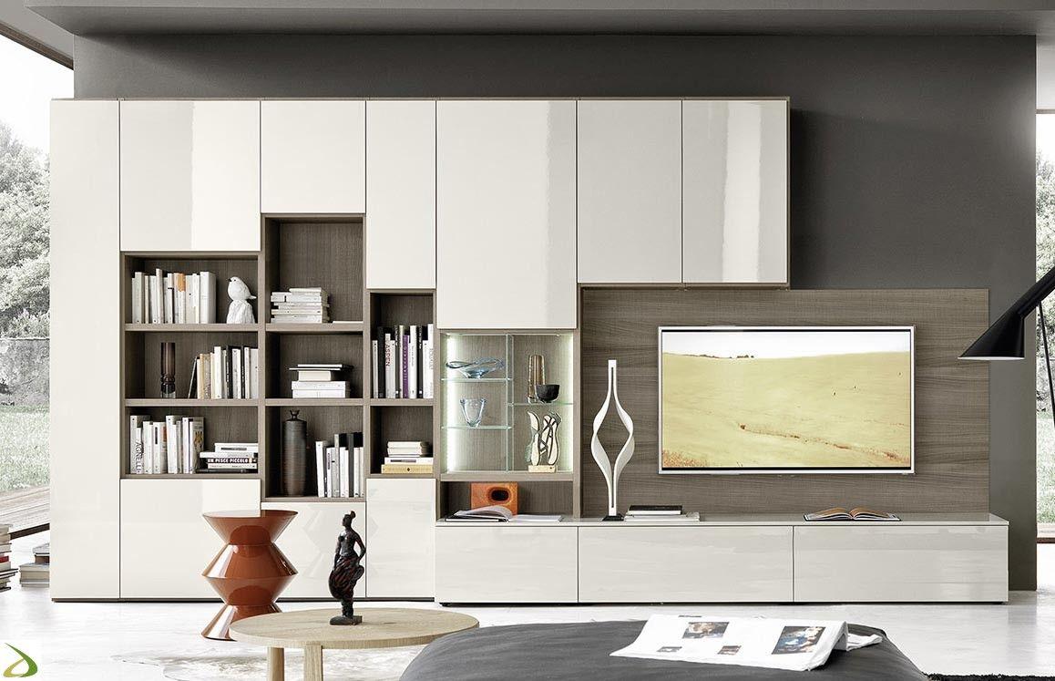 Soggiorno in legno componibile Lampo | Arredo Design Online ...