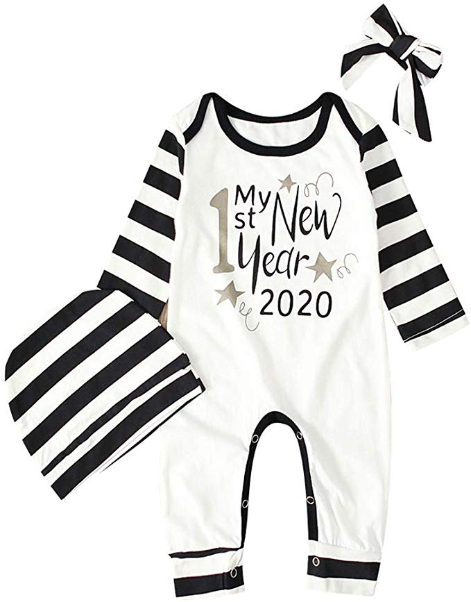 Fullyday 2020 Newborn Happy New Year Jumpsuit