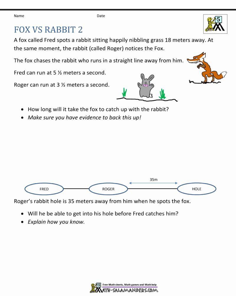 5th Grade Math Problems Printable Worksheets di 2020