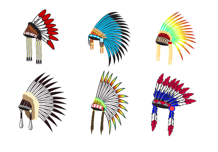 Free Indian Headdress Vector Vector Art Design Native American Svg Vector Free