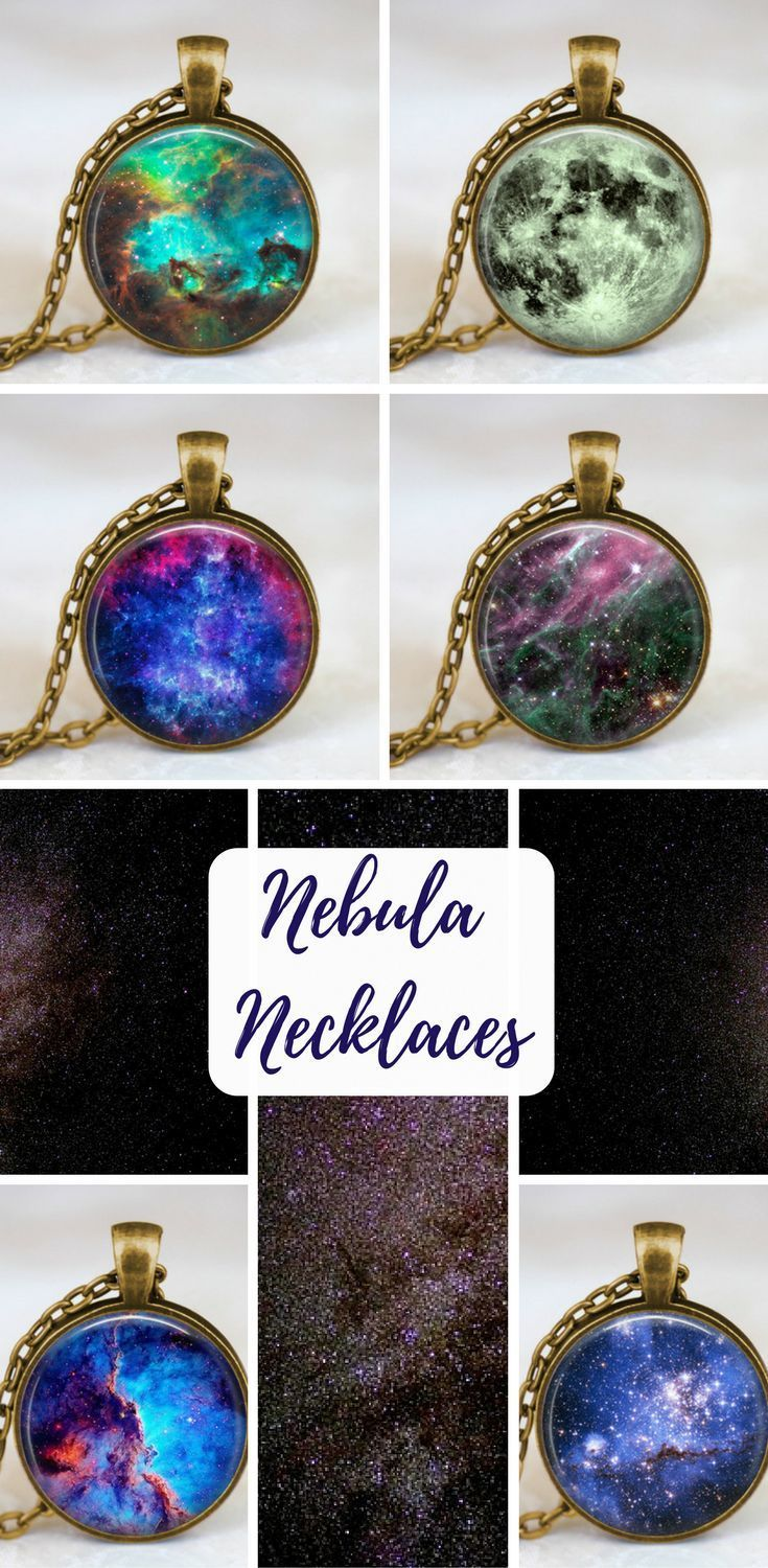 Space nebula necklace unique fantasy jewelry and girly