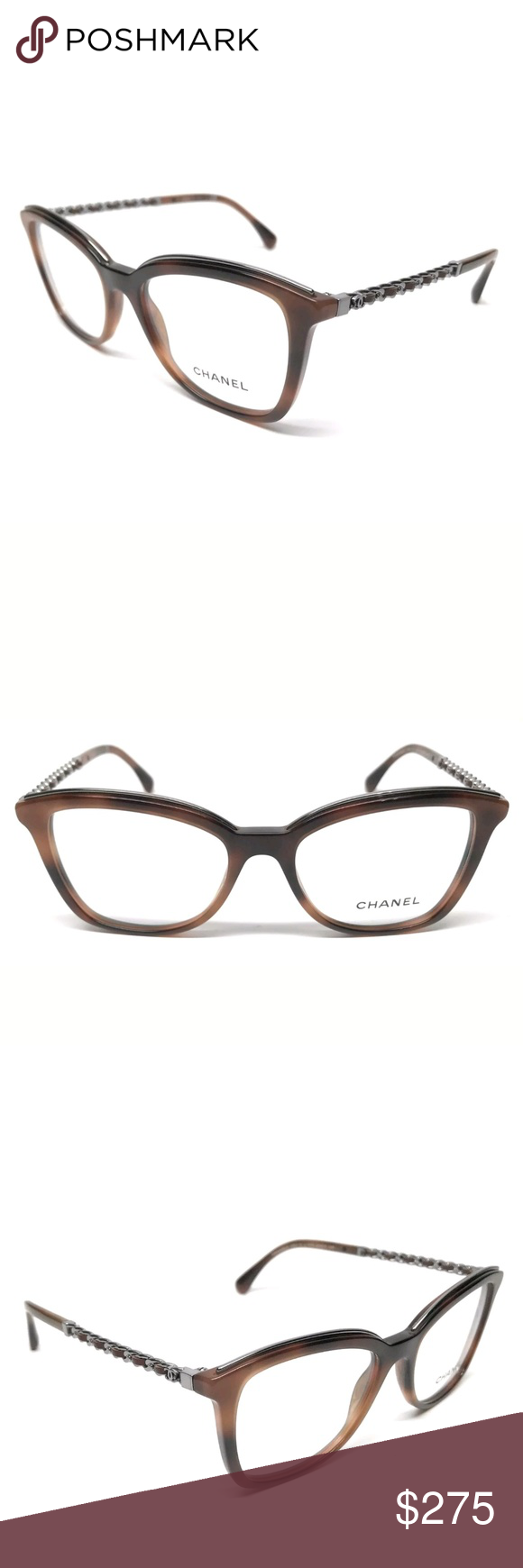 4bc90ab0acf Chanel Eyeglasses New authentic Brown frame Size 51-17 Case included CHANEL  Accessories Glasses