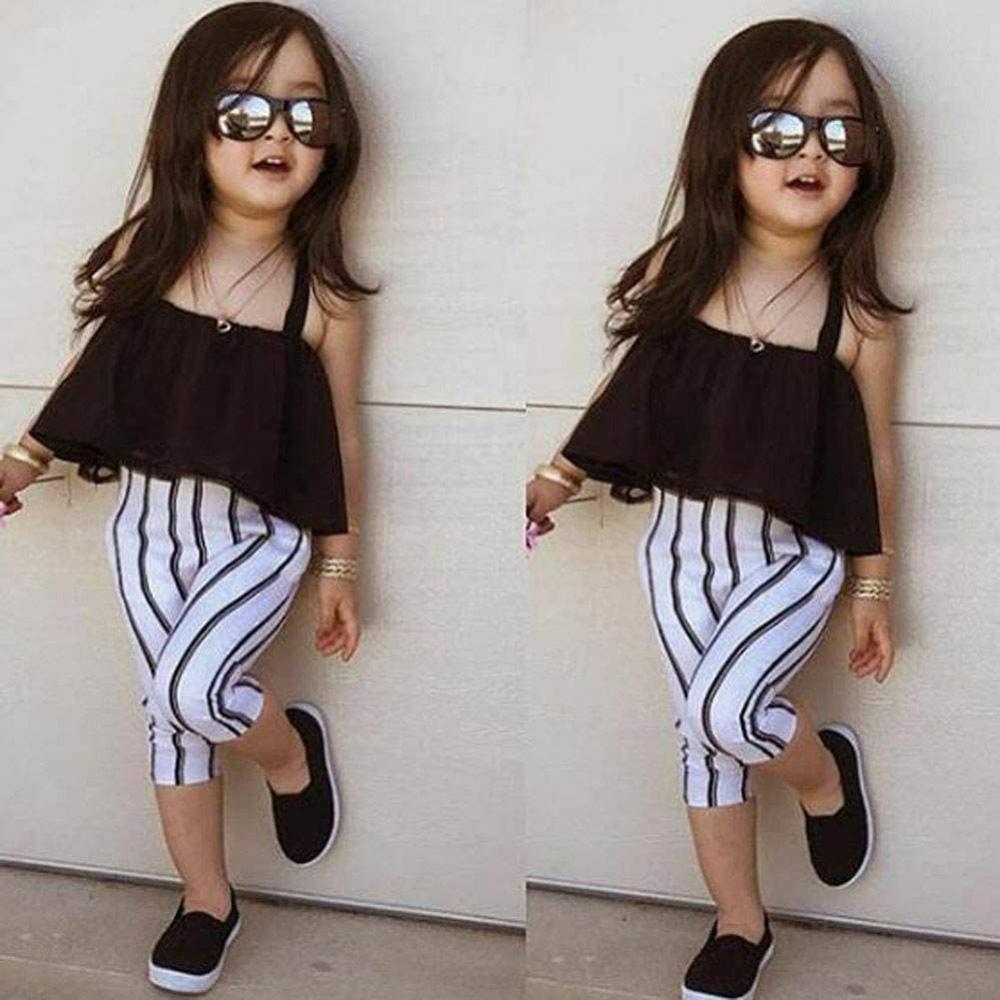 Amazon.com: Toddler Baby Girl Clothes Off Shoulder Halter Tube Top