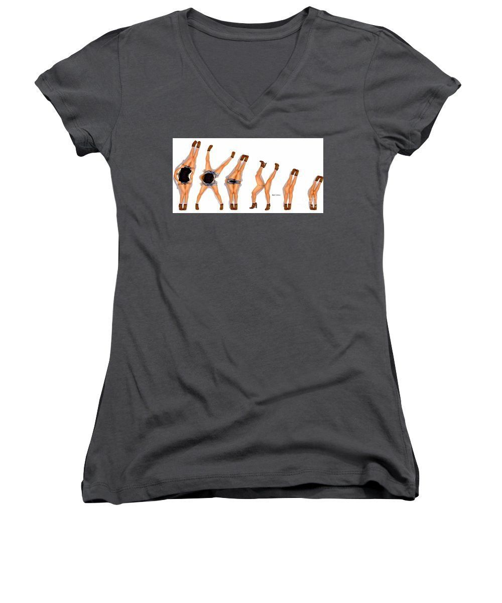 Women's V-Neck T-Shirt (Junior Cut) - Evolution