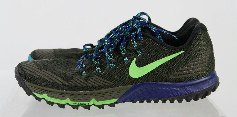 Nike Zoom Kiger 3 Blue Gray Lace Up Men's Running Shoes Size 9 #Nike #RunningCrossTraining