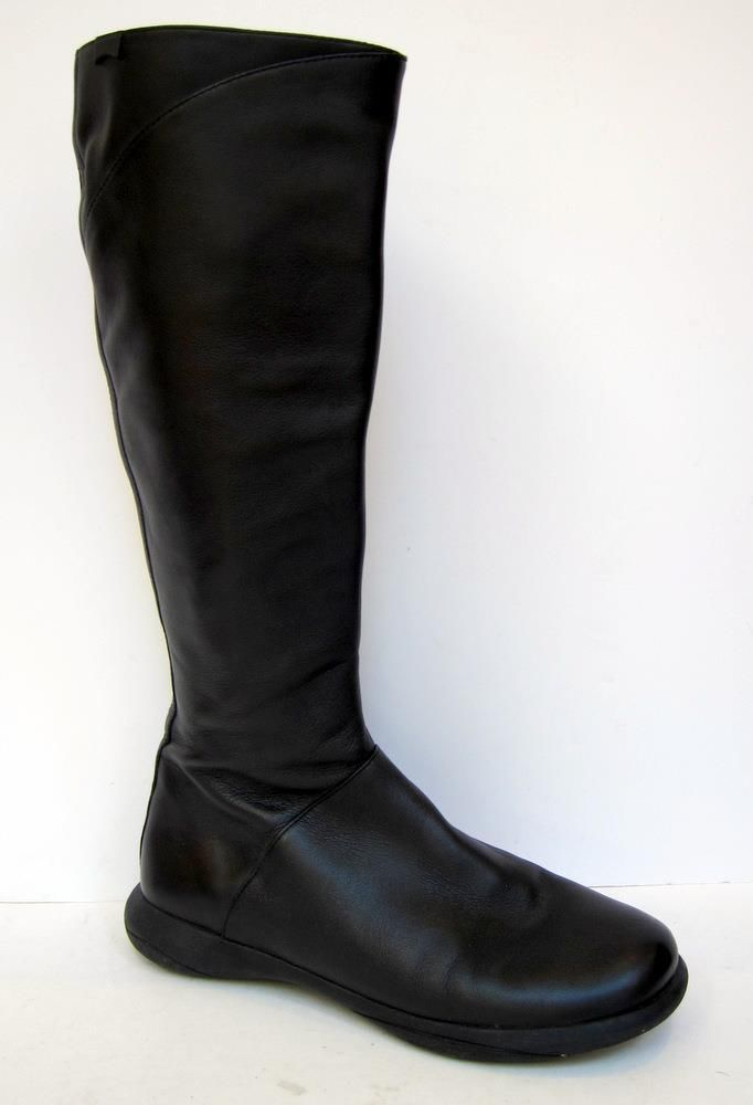 2feda9ad36b Camper  45642 Spiral  Black Leather Knee-High Boot Size 38 US 8  CAMPER   FashionKneeHigh