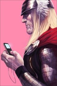 Thor love his iPod Comics multicitygames.com #inspiringcarlos   #iLA   #comics   http://ibourl.com/1dnr