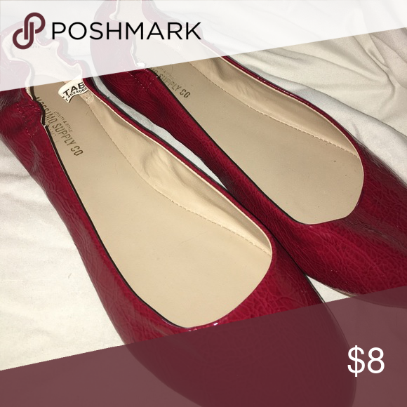 Plan red flat Red flat. Shoes Flats & Loafers