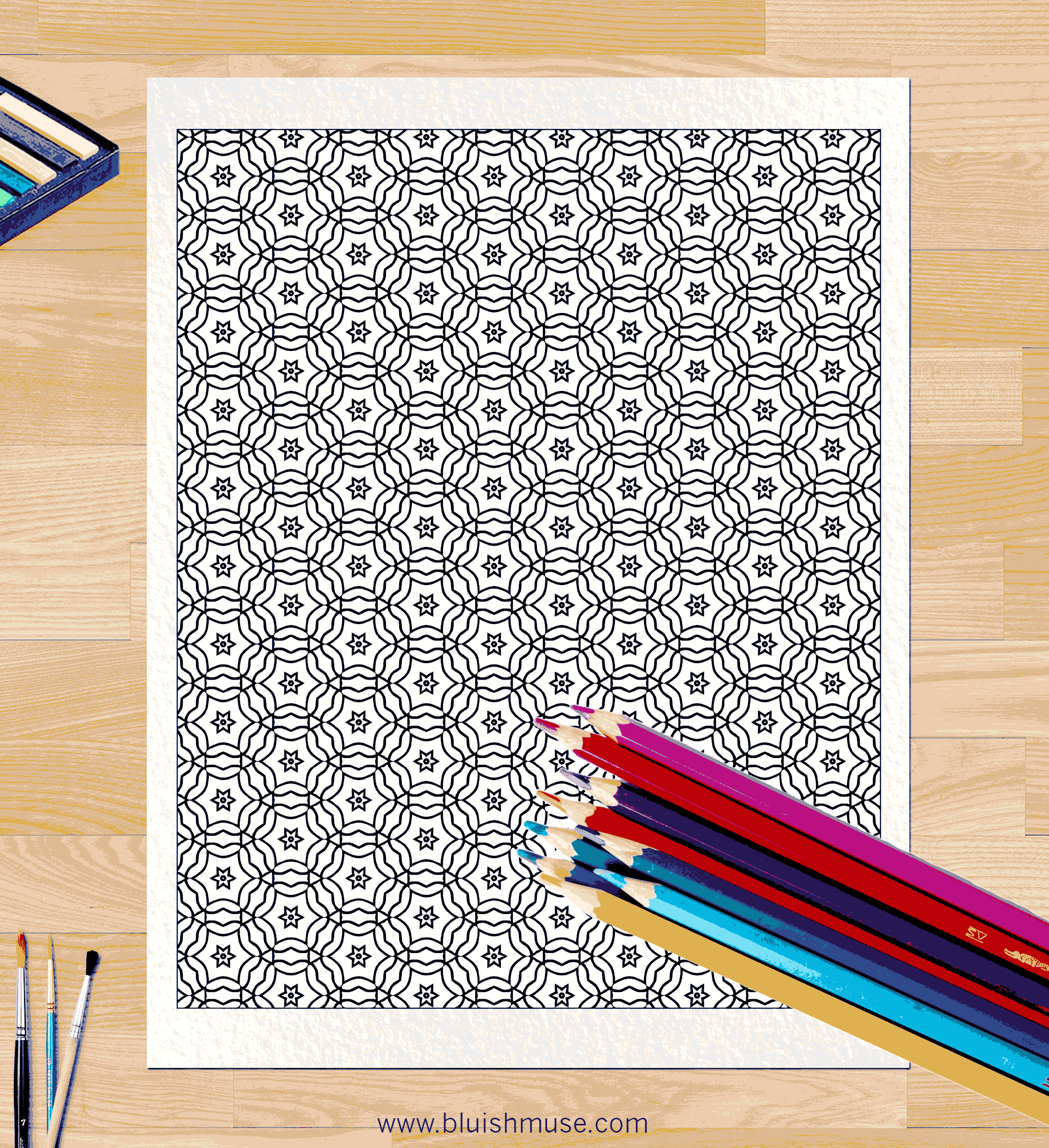 Pattern Coloring Page #0055 | Bluishmuse