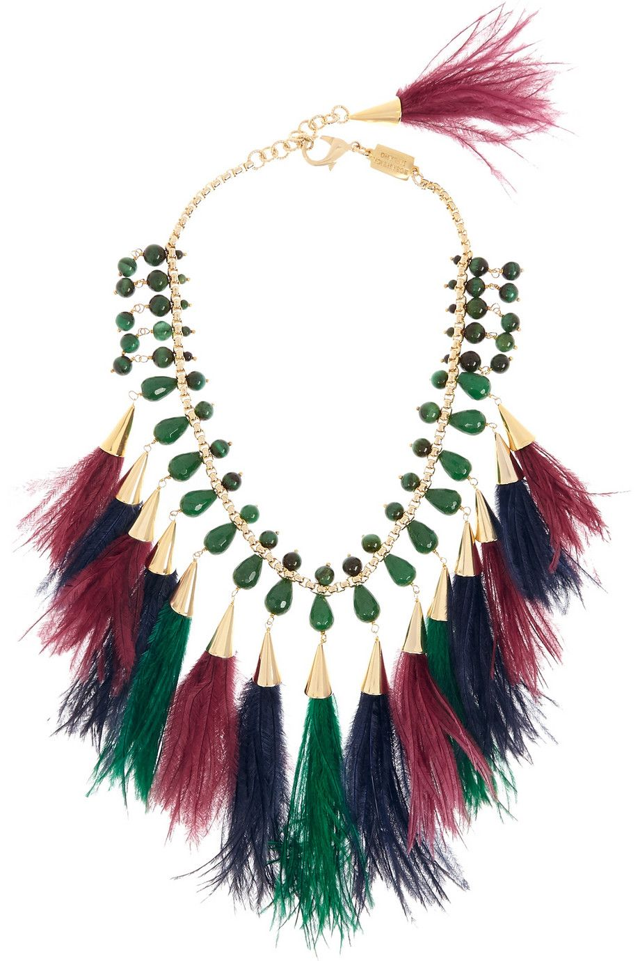 Rosantica Gold Feather Necklace HMwZuEoSa
