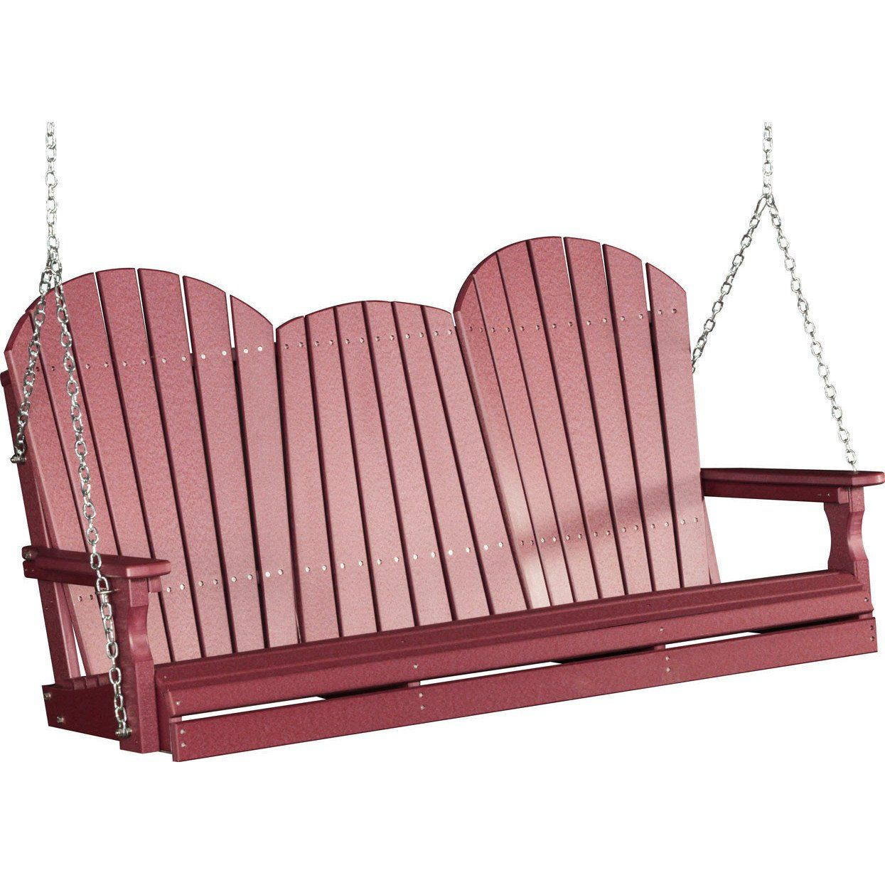Patio Cost Per Square Foot Canada: LuxCraft Adirondack 5ft. Recycled Plastic Porch Swing With