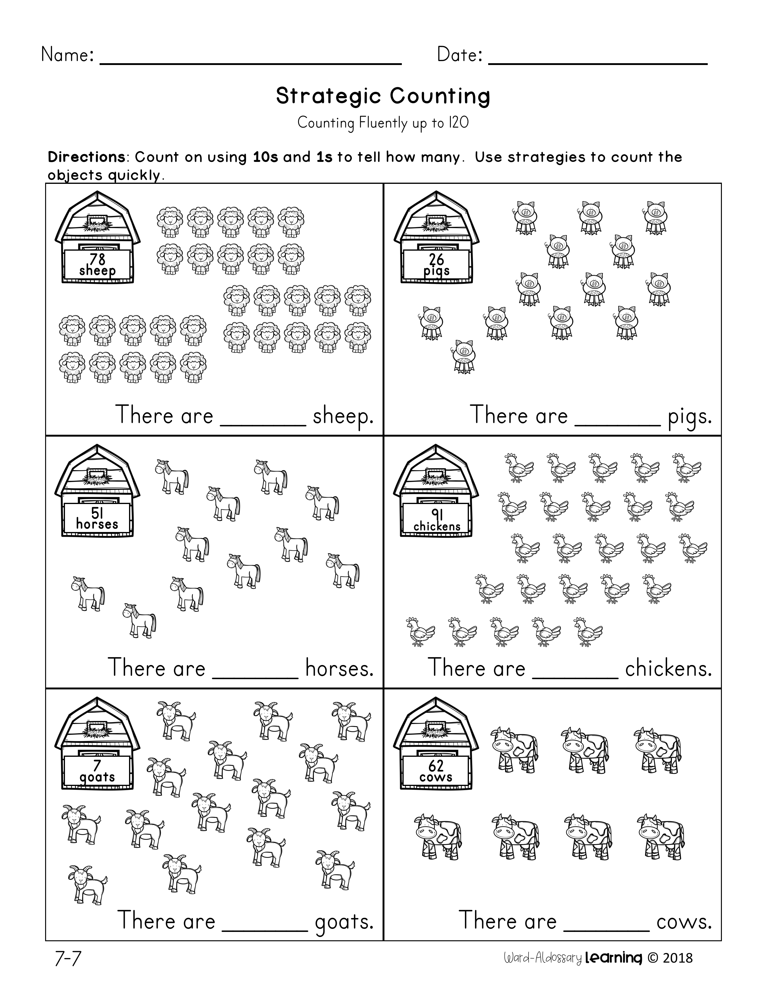 Extend The Counting Sequence To 120 By Having Students Practice Counting On From Any Number This Resource A Counting To 120 Academic Language Math Strategies [ 3300 x 2550 Pixel ]