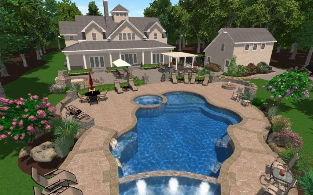 Exterior Images About Swimming Pool Designs Fountains And Cool Pool Ideas House Designs And Flo Backyard Pool Designs Small Backyard Design Backyard Pool Cost