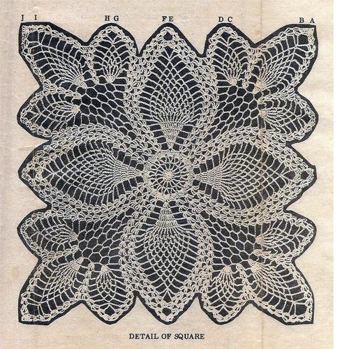 Crochet Pineapple Square Cloth Scarf Pattern Laura Wheeler 687 ...