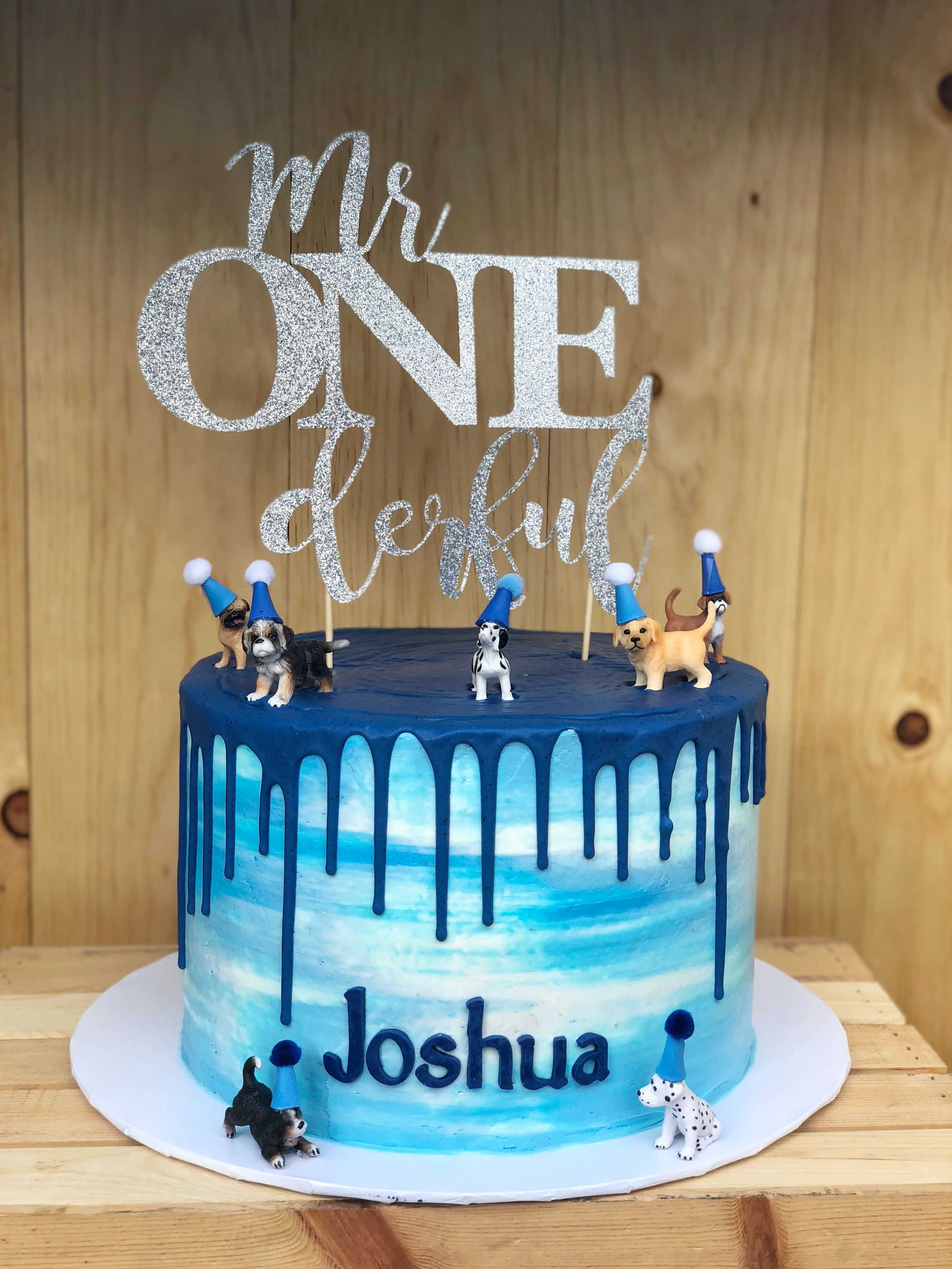 First Birthday Boy Cake By Bettiecakes With Images Baby