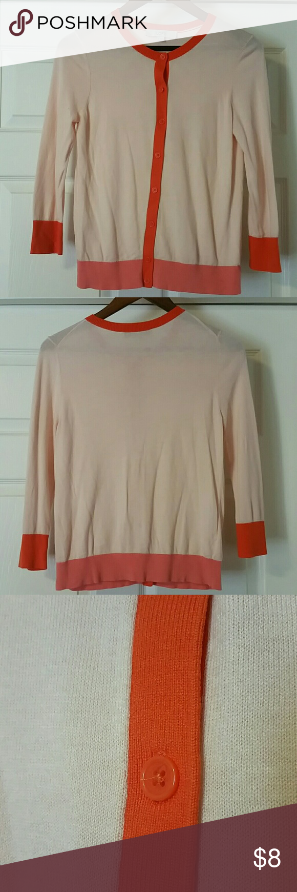 Loft soft peach orange and pink sweater | Peach and Conditioning