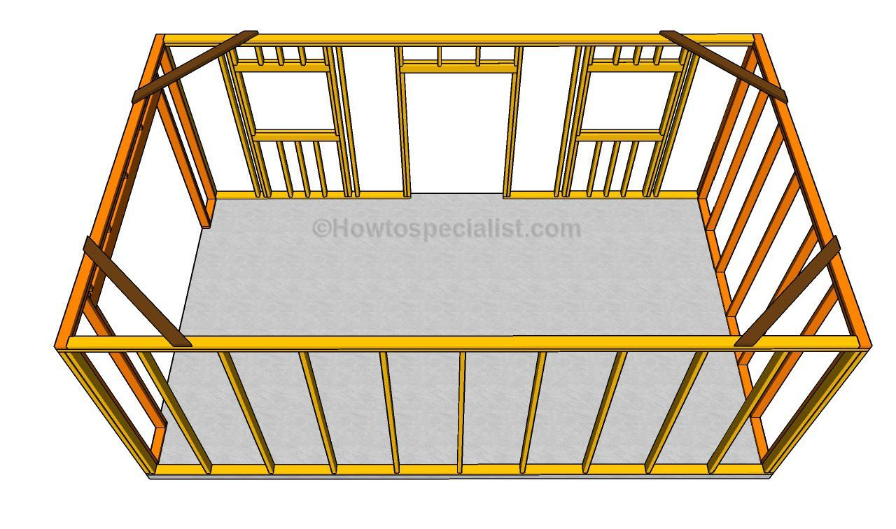 installing the wall frames sheds and garage plans pinterest this step by step diy article is about how to build a detached garage building a small garage for a single car requires a proper planning and quality
