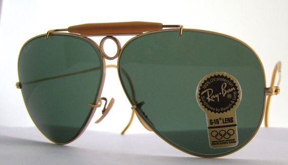 d65316d0e RAY BAN b&l Shooter bullethole Aviator by ifoundgallery on Etsy, $499.00