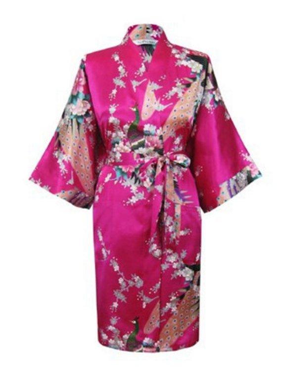 d32b82b89d9 READY TO SHIP - Floral Satin Bridesmaids Robes