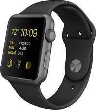 Apple WATCH SPORT 42mm Space Gray Aluminum Case Black Sport Band (MJ3T2LL/A)