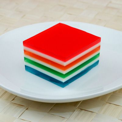 7 Layer Finger Jello Jello Condensed Milk Gelatin A Little Time And A Level Refrigerator Make This Retro Tr Layered Jello Recipe Finger Jello Jello Recipes
