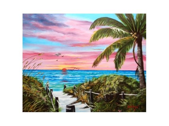 A Sunset Of Vivid Colors Located On The Suncoast Of Florida | ArtsyHome