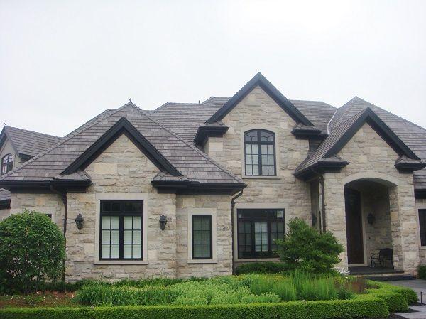 Black Aluminum Soffit Fascia And Trough Supplied By Gentek House Exterior Exterior House Colors House Colors