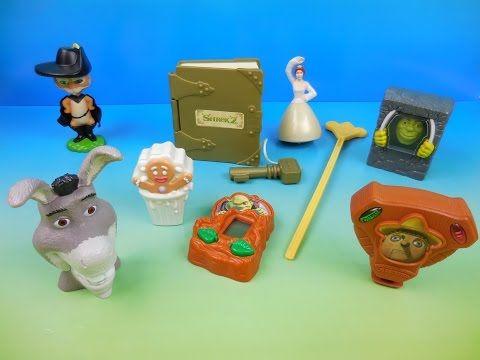Download Video 2004 Shrek 2 Set Of 8 Burger King Kids Meal Movie